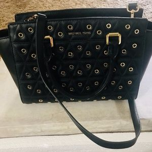 Michael Kors purse with gold studs